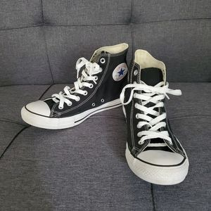 Converse Black/White High Top Sneakers